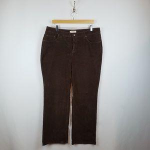 St. Johns Bay Corduroy Secretly Slender Jeans 14W